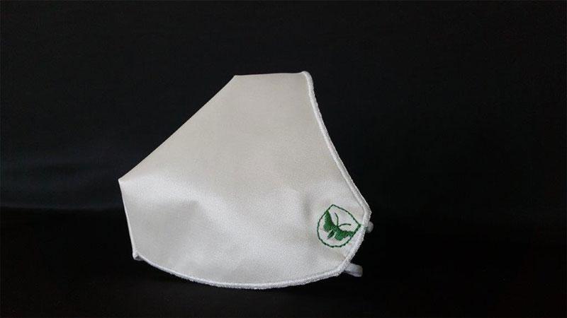 Silk Shield prototipo mascherina ivory